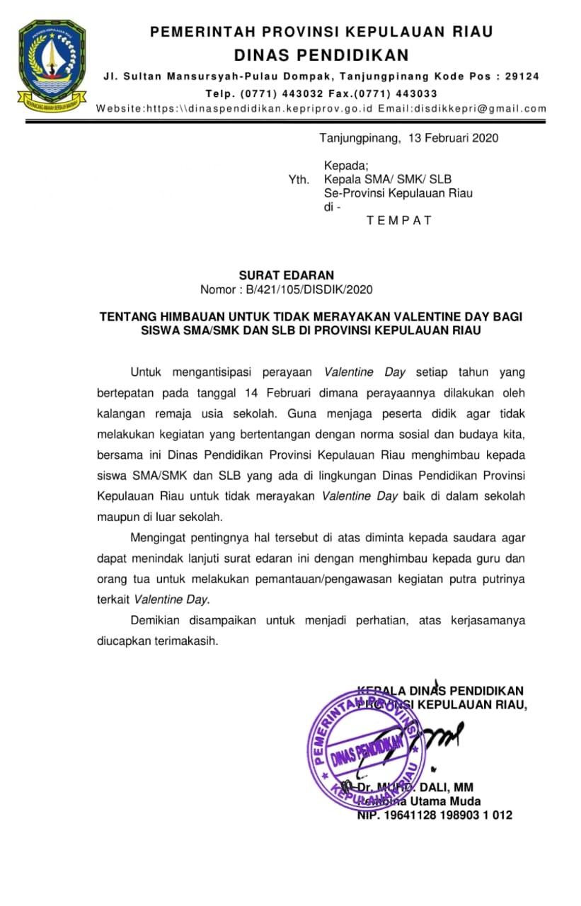Kop Surat Dinas Pendidikan Provinsi Riau - Contoh Kop Surat